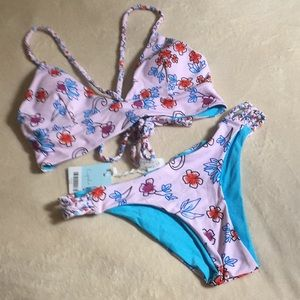 Cupshe Women's  Halter Top Bikini Set.